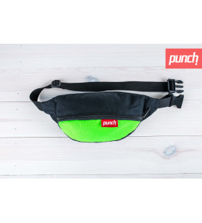 Сумка на пояс Punch - Black/Acid Green