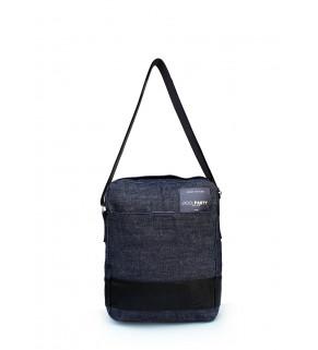 Мужская джинсовая сумка POOLPARTY с ремнем